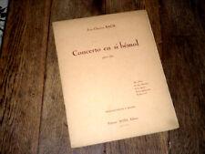 concerto en Si bémol pour alto et piano 1952 Jean-Chrétien Bach