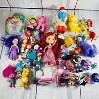 Mixed Toys And Figures Lot Of 35+ Vintage To Now Strawberry Shortcake Care Bears