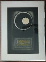"Large JB Thompson Signed & Numbered ""Eclipse"" Original Etching 1971 Framed"