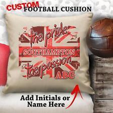 Personalizado SOUTHAMPTON Fútbol Vintage Cojín A medida Tapa Canvas Regalo