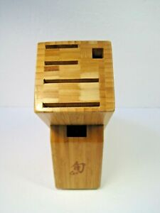 Shun 6-Slot Bamboo Knife Block NWOB
