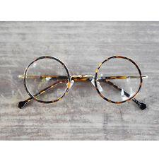 1920s Vintage Round oliver retro classic eyeglasses 33R2 Leopard frames rubyruby