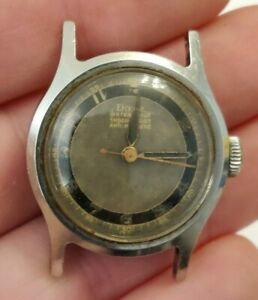 Vintage 1940's DOXA Radium dial military style Stainless 28mm Two Tone Dial