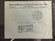1932 Krolewsaka Poland Registered Commercial Cover to Łódź