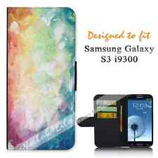 For Samsung Galaxy S3 i9300 Wallet Flip Phone Case Cover Y00296 Pretty Art