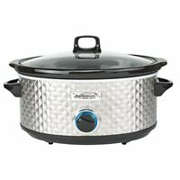 Brentwood Appliances SC-157S Bs Slow Cooker Quilted 7qt Ss (sc157s)