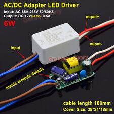 AC-DC Convertidor AC a DC 220 V 230 V 12 V 0.5 A 6 W LED Driver transformador Adaptador