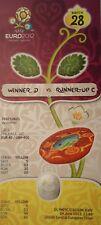 Mint ticket UEFA Euro 2012 inglaterra-Spain Espana españa # match 28
