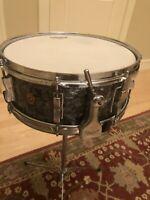 WFL 5x14 Black Pearl Snare Drum Vintage 1958