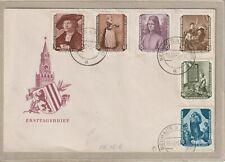 """Ersttagsbrief - """"Von der Sowjetunion zurückgeführte Gemälde"""" Michel 504-509 1955"""
