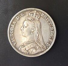 1891 Queen Victoria Silver Crown Coin.