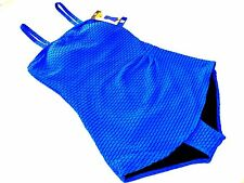 NEW Essentials By Gottex Women's One Piece Slimming Swimsuit Blue SIZE 14 NWT