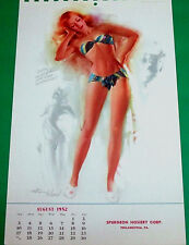 TED WITHERS AUGUST 1952 PINUP CALENDAR PAGE