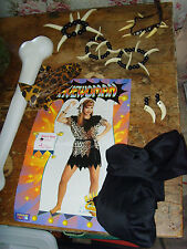 Juniors Halloween costume cave woman primal lady fake bone and jewelry one size