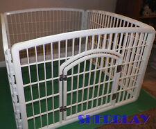 IRIS White Plastic Indoor Pet Dog Play Pen 4 Panel Portable Safety Fence Yard