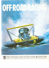 1996 The Chrysler Jeep Detroit Gold Cup Unlimited Hydroplanes Race Program