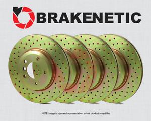 [FRONT + REAR] BRAKENETIC SPORT Cross DRILLED Brake Disc Rotors BSR77646