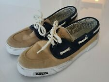 """Mens Nautica """"Boater 2"""" Boat Shoes Blue/Lugg (Tan) Size 10"""