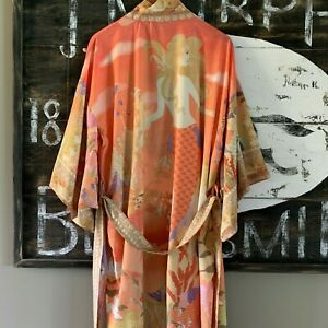 XL New Boho Kimono Maxi Duster Beach Cover-Up Tunic Dress Top Womens X-LARGE