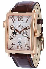 Gevril Men 5150R Avenue of Americas Serenade Twin Time Zone 18K SOLID GOLD Watch
