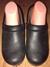 Dansko XP Black Leather Clogs Women Size 42W 11.5-12 Nursing Oil Rubbed
