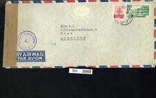 BM2069, Libanon, 1952, Beyrouth - Wien, Luftpost mit alliiertem Zensurstempel
