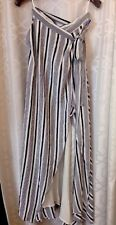 Th Jersey Diaries Long Skirt Blue And White Stripe Wrap Size Small