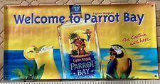 """Rare�Captain Morgan Welcome To Parrot Bay Vinyl Banner~Jimmy Buffett~Parrothead"