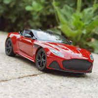 Red Aston Martin DBS Superleggera Diecast Car Model in 1:24 Scale
