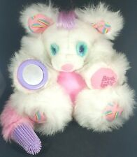Brush A Loves Bear Plush TYCO 1989 Pink White Vintage Toy 1980s