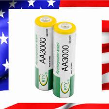 2 PILES ACCU BATTERIE RECHARGEABLE AA LR06 3000mAh 1.2V NI-MH NIMH LR6 R06 R6 2A