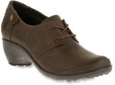 NEW Merrell Veranda Tie Cloudy Womens 6 Brown Leather Booties Comfort Oxfords
