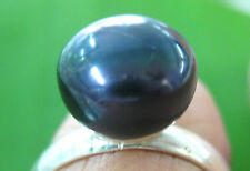 925 sterling silver (9 - 10mm BLACK) FRESHWATER PEARL RING BIG Size - GIRL WOMEN