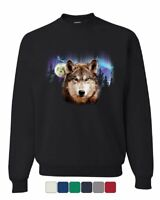 Lone Wolf Into the Wild Sweatshirt Wilderness Wild Wolf Pack Howl Sweater