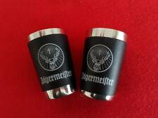 2 Original Jägermeister Trinkbecher/Shots - edelstahl / schwarz