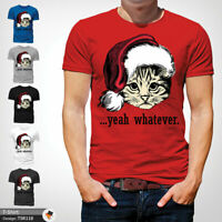 Cat Whatever T Shirt Mens Tshirt Red T-Shirt Christmas Large Cotton XXL 3XL