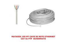 MATASSA 100 MT METRI CAVO DI RETE FTP CAT 5E LAN ETHERNET 5 E INTERNET SCHERMATO