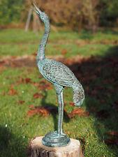 Bronzeskulptur, kleiner Kranich, Gartendekoration*