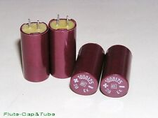 4pcs  ROE EK 1000uF 25V  Bakelite vintage Hi-Fi Audio capacitors.NOS