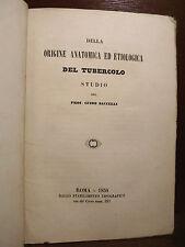 MEDICINA - Baccelli Guido : Origine Anatomica ed Etiologica del Tubercolo 1858