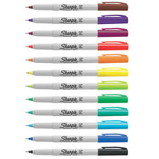 Pack of 12 Sharpie Ultrafine Ultra Fine Permanent Marker Pens MIXED NEW