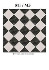 "DOLLS House miniature, pavimenti, miniatura Piastrelle.1 ""SQ.. sf4.m1 / M3"