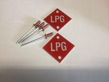 LPG Number Plate Red Tags, LPG Conversion -LPG Kit- LPG Part
