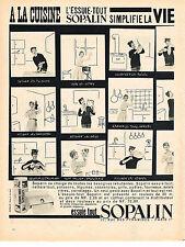 PUBLICITE ADVERTISING  1960   SOPALIN  essuie-tout