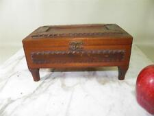 ANTIQUE TRAMP ART DRESSER TRINKET BOX FROM ROMANCE YOCUM BROS. SIGAR BOX