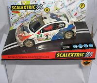 "SCALEXTRIC  6051 PEUGEOT 206 WRC ""EFECTO BARRO""  #9  MUNIENTE-PUJOL  MB"
