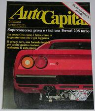 AUTOCAPITAL 3-5/1984 ALFA ROMEO 6 2.0 - FERRARI GTO - VOLVO 740 GLE TURBO