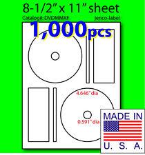 DVDMMXF, 1,000 CD/DVD Labels Memorex Compatible Full Face
