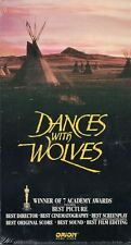 Dances with Wolves VHS 1993 New Sealed Kevin Costner Movie Won 7 Academy Awards