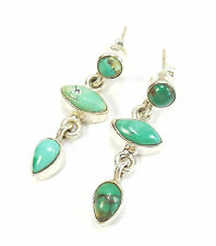 Butterfly Turquoise Cabochon Natural Fine Gemstone Earrings